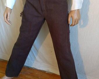 Hermans Hemp hand dyed jeans 32X 33  brown