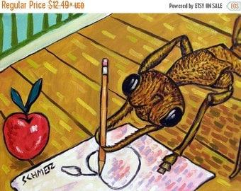20 % off storewide Bulldog Ant Insect Art Print   JSCHMETZ modern abstract folk pop art gift
