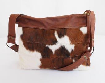 Hair On Cowhide Shoulder Bag Purse Labor Day Sale