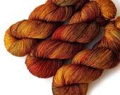 600 Yards Hand Dyed Yarn Merino and Silk Fingering Yarn - Make Mine a Manhattan, 600 yards/150 grams