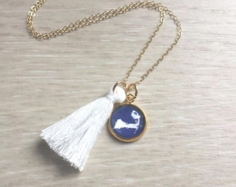 TASSEL NECKLACE with CHARM
