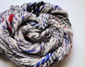 Frost.  Handspun, Handcarded Art Yarn 2 ply