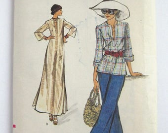 1970s Vogue pattern 8858  Misses Top and Dress size 10