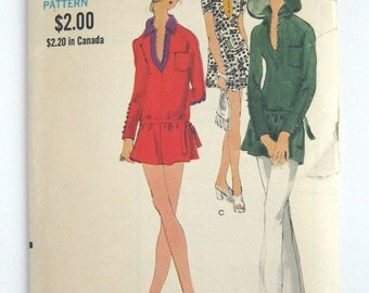 1970s Vogue pattern 7854  Misses one piece dress size 12