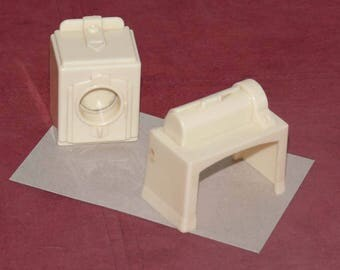 Miniature Washing Machine, Mangle, Dollhouse Furniture