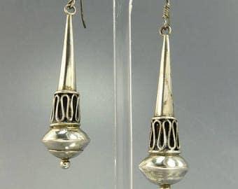 Ethnic Tribal Earrings Sterling 925 Bali Dangle Earrings