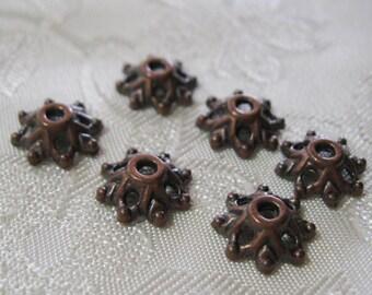 Antique Copper Filigree Bead Caps Lead Free 9mm 319