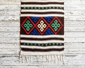 Vintage Wool Runner, Textile Wall Hanging, Vintage Textile, Handwoven Textile, Wool Runner, Patterned Runner, Embroidered Textile, Folk Art