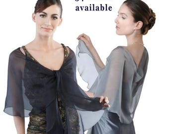 Promo Sale: Evening Silk Chiffon Scarf/ Wrap/ Shawl. 34 colors available