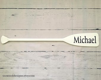 """41"""" Paddle Personalized Painted with Name / Optional Starfish / Nautical Nursery Decor / Beach Decor / Children / Baby / Name Sign / Oar"""