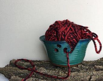 Zacs Green yarn bowl