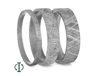 Gibeon Meteorite Inlays For Interchangeable Titanium Rings Only, Meteorite Inlay Components, Handmade Adjustable Rings