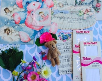 Bundle of Vintage Lovelies Paper Epherema Sewing #6 Collection
