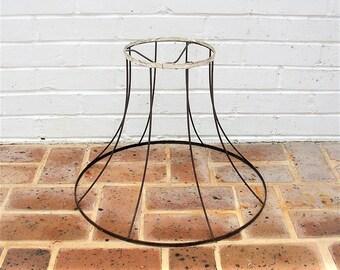 Vintage Metal Lamp Frame Lamp Shade Vintage Wire Frame Vintage Lamp Shade Frame