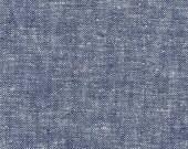 1 yard Essex Denim Yarn Dyed linen cotton Robert Kaufman