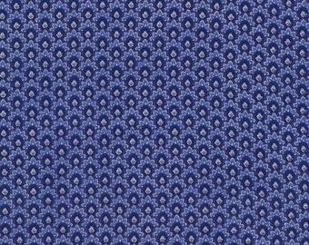 Duchess Floral Scallop Blue fabric | CM5231-BLUE | Chong-a Hwang | Timeless Treasures