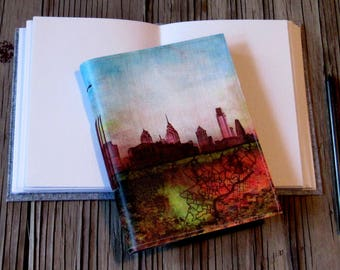 skyline inspire journal - philly roots art, gift giving for him and her - tremundo