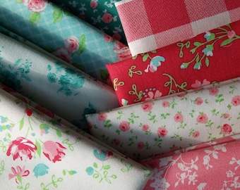 12 fat quarters of Laura Ashley's ELM PARK Cotton Quilting Fabric for Camelot Designs ~ 3 yards total