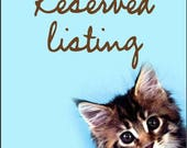 Reserved Listing for Elysa Mathews