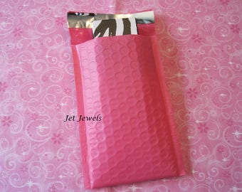 10 Bubble Mailers, Pink Bubble Mailers, Mailing Envelopes, Shipping Envelopes, Hot Pink Envelopes, Bubble Mailer, Padded Envelopes 4x7