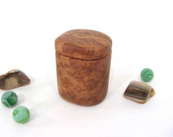 Lace Redwood Box, engagement ring box, ring bearer box, proposal box, earring box, outdoorsy gift, guitar pick box, Fathers Day Gift
