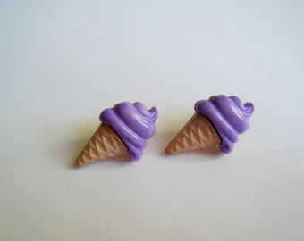 ♥ Purple ice earrings ♥