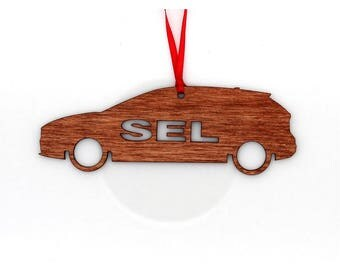 Wooden Ford Focus SEL Ornament