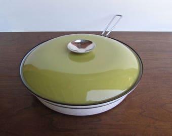 "Cathrineholm Lotus Butterscotch Enamelware Large 10.5"" Skillet, Designed by Grete Prytz Kittelsen"