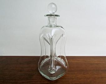"""Jacob Bang Designed Modern Holmegaard Kastrup """"Kluk Kluk"""" Glass Decanter"""