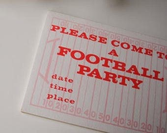 ANNIVERSARY SALE 1980s Football Party Invitations, set of 10