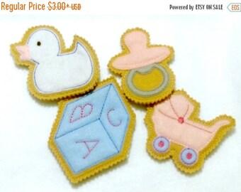 SALE Baby shower favor - felt baby shower iced cookies - unique baby shower - baby shower decor -  party favor -  #1005