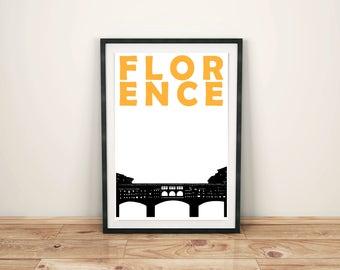 Florence Italy Print // Italian Art // Florence Print // Florence Art // Florence Poster // Travel Print // Gift for Women // Gift for Men
