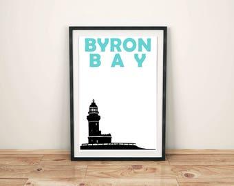 Byron Bay Print // Australia Print // Byron Bay Poster // Byron Bay Art // Australian Art // Travel Print Australia // Gift for Couples