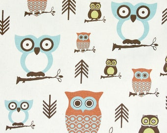 Premier Prints Hooty Owl in Natural Cotton Fabric 1 yard