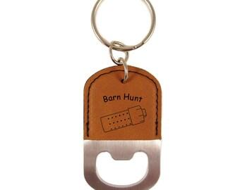 Barn Hunt Rat Tube Bottle Opener Keychain - Free Shipping