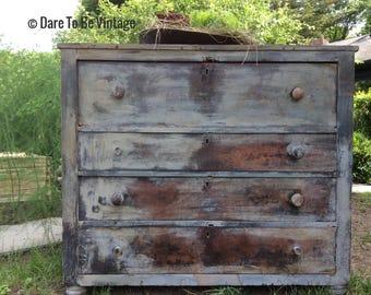Sold Rustic Farmhouse Dresser - Painted Dresser - Bohemian Dresser - Painted Buffet - Primitive Dresser - Rustic Dresser - White Dresser