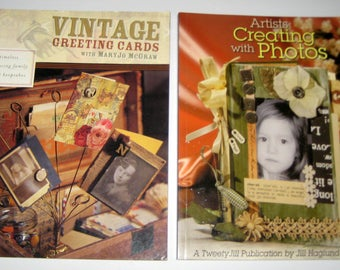 2 Craft Books: Vintage Greeting Cards, MaryJo Mc Gray and Artists Creating with Photos, Jill Haglund