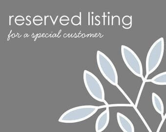 RESERVED listing for Mermaidsorbet
