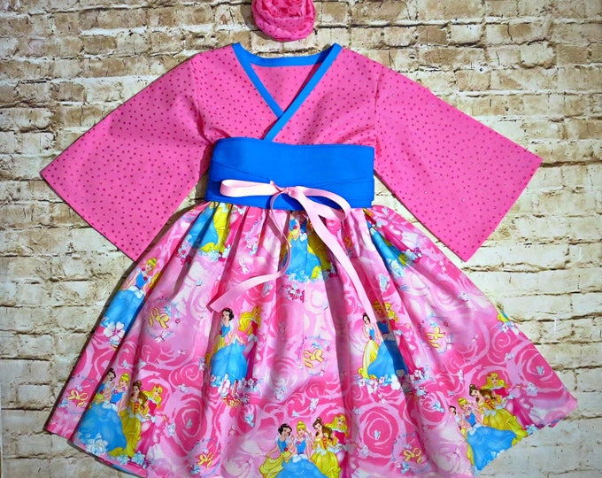 Disney Princess Dress - Disney Dress for Toddlers - Little Girl Clothes - Birthday Dress - Toddler Birthday - Belle Dress - 12 mo to 14 yrs