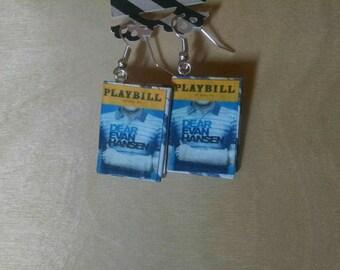 Dear Evan Hansen Playbill Earrings - Handmade Playbill Jewelry - Handmade Dear Evan Hansen Earrings - Musical Theater Jewelry - Earrings