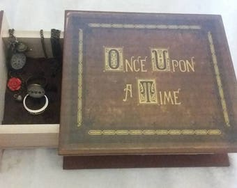 Once Upon a Time Jewelry Box - Book Jewelry Box - Once Upon a Time Book Ring Box - Once Upon a Time Book Box - Once Upon a Time Proposal Box
