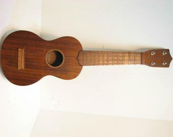 Sam F. Chang Ukulele, Vintage Uke, Honolulu Hawaii Koa Wood