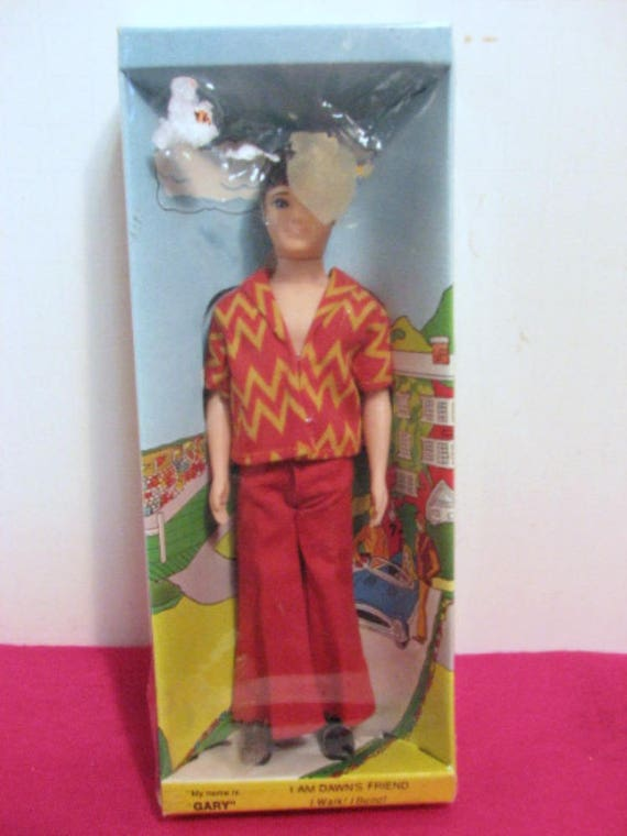 Vintage Gary Doll, Vintage 70s Dawn Best Friend, Walking and Bending Toy, MIB Still Sealed in Box by Topper 1970