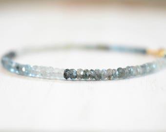 moss aquamarine bracelet. shaded moss aquamarine gemstone bracelet. moss aquamarine beaded bracelet. moss aquamarine gemstone jewelry