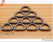 20 Pcs  1/2  inch ( 12 mm ) Iron WIRE Gunmetal  D rings dog leash Keychains wristlet strap Hardware Supplies 20pcs  U170