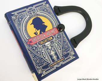 Sherlock Book Purse - Sherlock Holmes Book Cover Handbag - BBC 221B Book Clutch - Mystery Reader Gift - Purse from a book - Retirement Gift