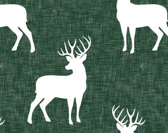 Navy Blue Woodland Fabric