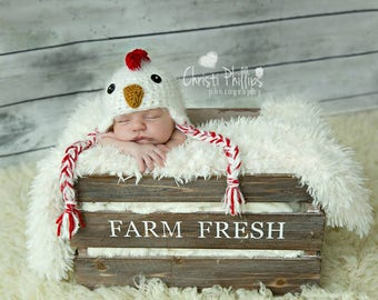 Baby Chick Hat Chicken Hat Diaper Cover Set Newborn 3m 6m Crochet Rooster Fuzzy Photo Prop Baby Clothes Boy Girl SOFT Halloween Costume