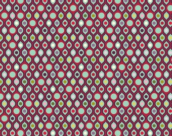 Tula Pink Parisville Eye Drops Pomegranate Fat Quarter (FQ), VHTF OOP fabric, destash, rare, cotton, new, washed, no shrinkage