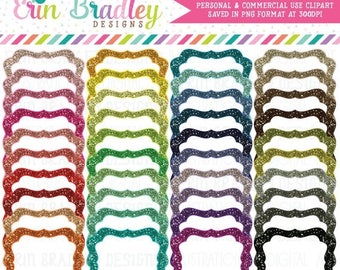 80% OFF SALE Bundle Clipart Glitter Frames in 40 Colors Instant Download Commercial Use Clip Art Graphics Digital Glitter Labels